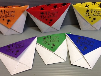 Origami Cups - Make Your Own Birthday Party Supplies