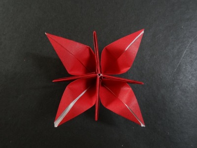 Origami Flower Tutorial - How to fold Origami Crocus Flower.