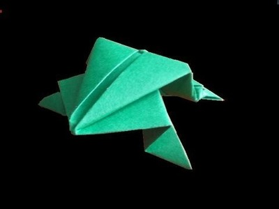 Origami: jumping frog