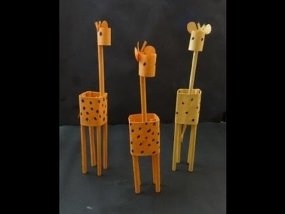 Paper Crafts: How to make a Paper Giraffe