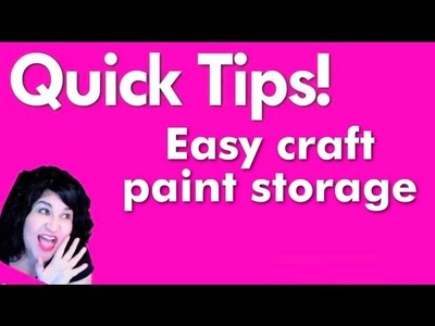 Quick Tips:  Easy craft paint storage