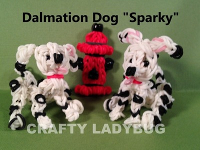 Rainbow Loom Charm DALMATIAN DOG Advanced Tutorial by Crafty Ladybug