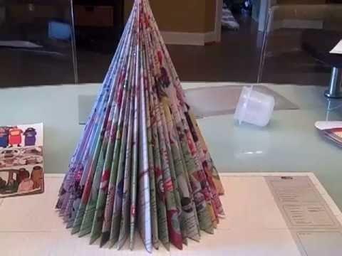 Recycled Magazine Tree as seen on Martha Stewart