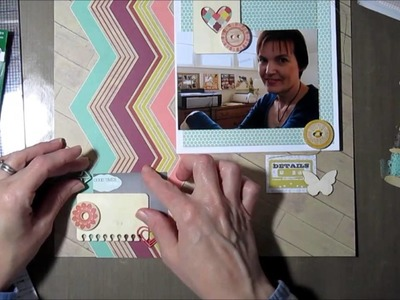 Scrapbooking Process 2014 Kickoff - Adding a booklet to a layout