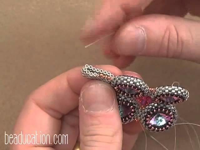 Seed Bead Crystal Squared Necklace Tutorial - Beaducation.com