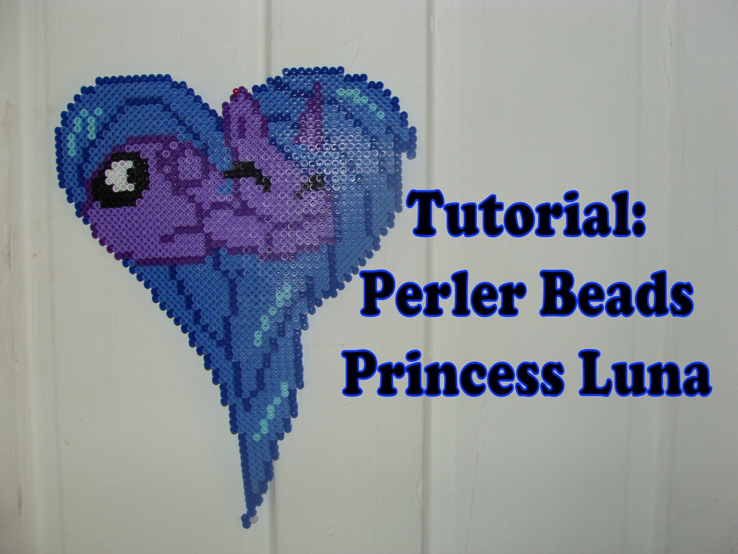 TUTORIAL: Princess Luna FiM - Perler Beads DIY