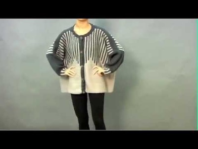 #1 Striped Cardigan, Vogue Knitting Winter 2009.2010