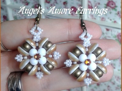 Angels Amore Earrings Beading Tutorial by HoneyBeads1