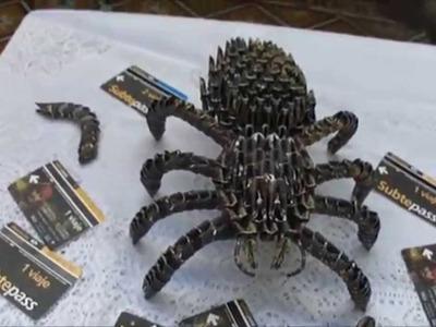 Araña.Libelula - Origami 3D