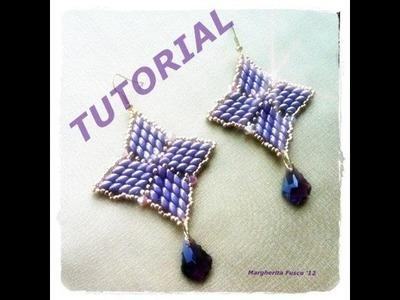 Beads Tutorial: DIY Orecchini Cinderella con superduo - Handmade jewellery
