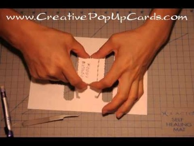 Birthday Pop Up Card: Square Cake Tutorial