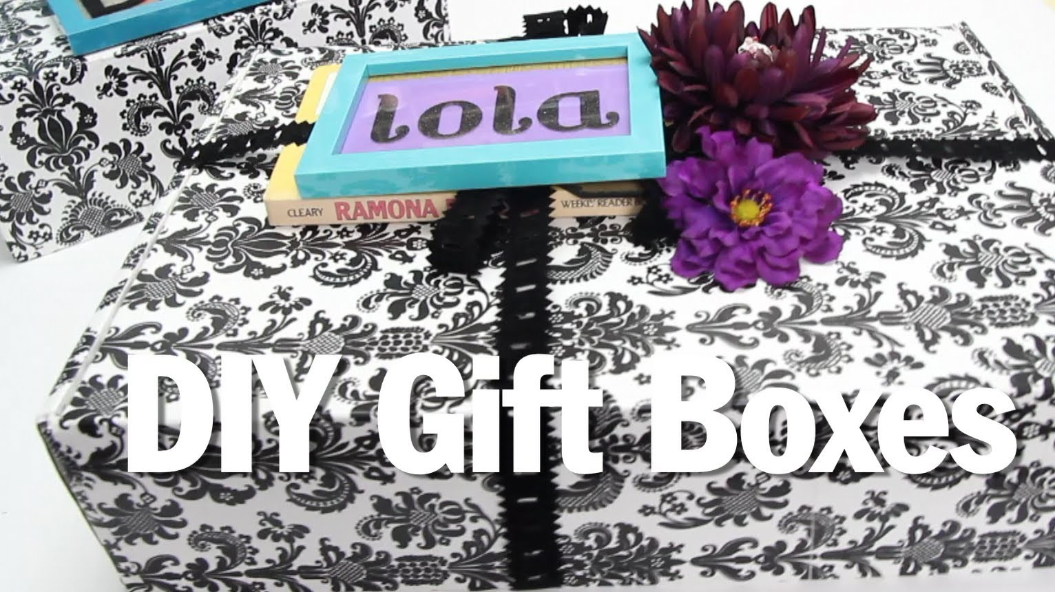 BROKE FOR THE HOLIDAYS, DIY Gift Boxes