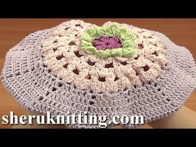 Crochet Beret Tutorial 7 Part 1 of 2 Tığ İşi Bere Modelleri