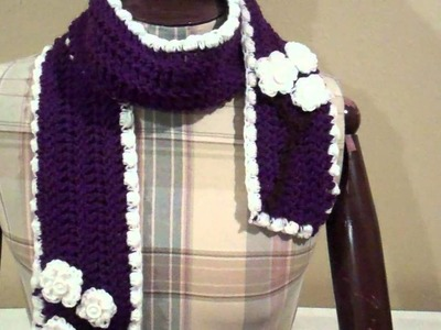 "Crochet Cherry Blossom Beanie and Scarf ""Fresh Off The Hook"""