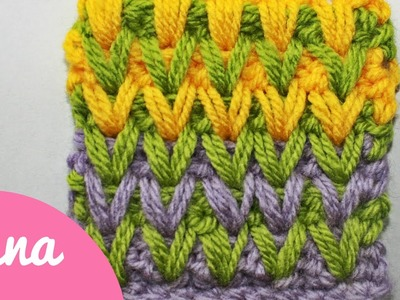 Crochet color spike stitch
