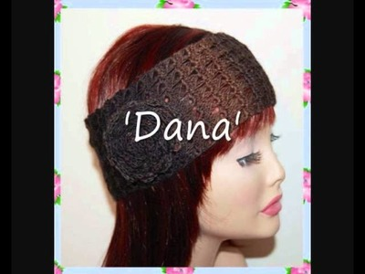 Dana Lace Headband 4ply Sock Yarn Crochet Pattern