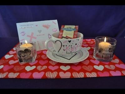 DIY Anniversary Gifts (Candle, Mug, & Card)