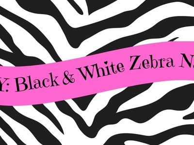DIY: Black & White Zebra Nail Tutorial