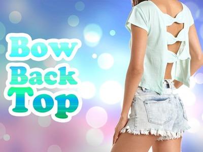 DIY: Bow Back Top