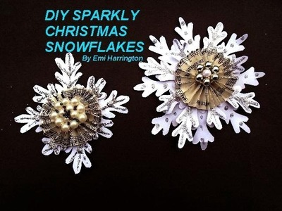 DIY BRILLIANT PAPER SNOWFLAKE CHRISTMAS ORNAMENT, ORNAMENT, DECORATIONS