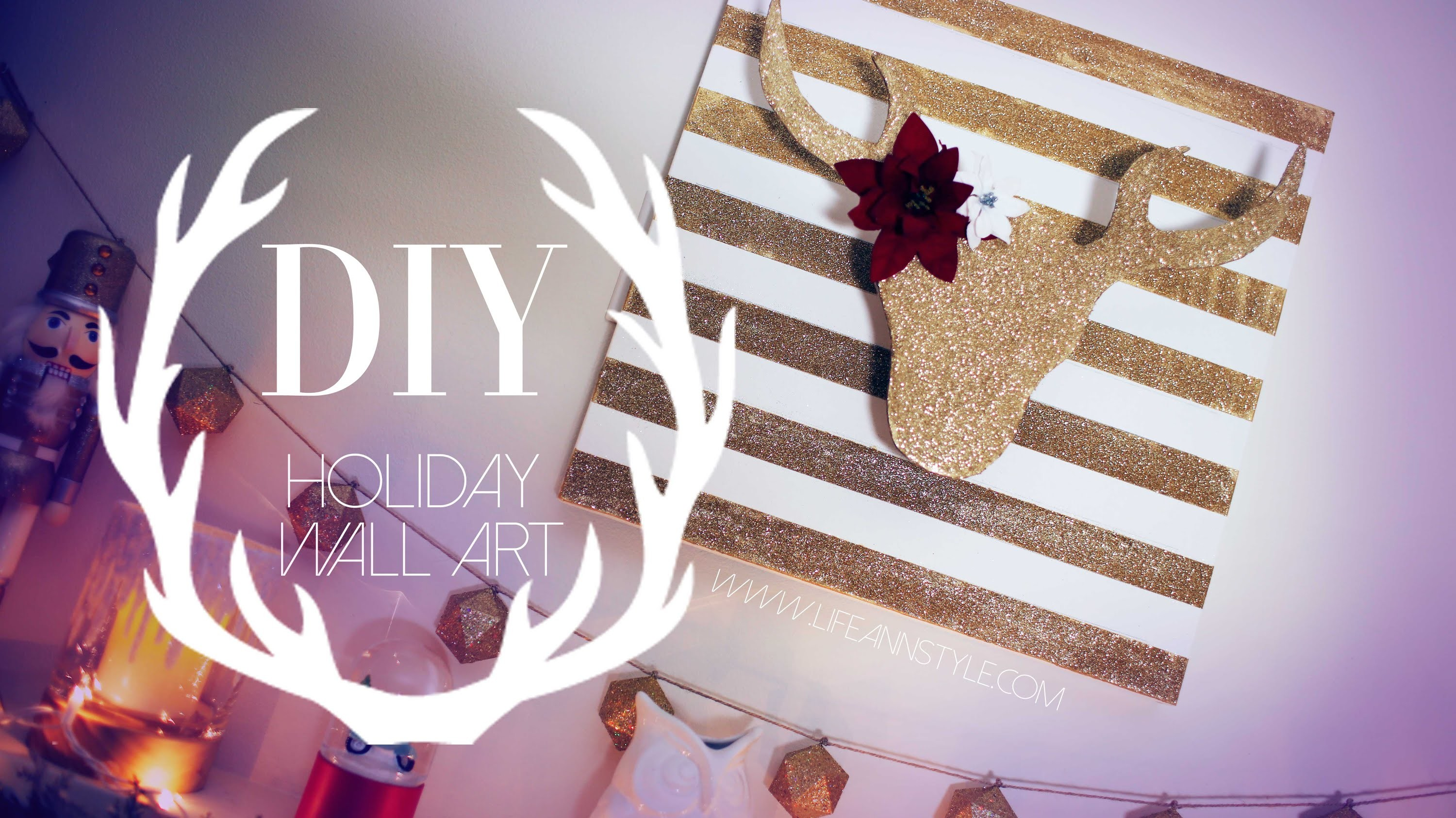 DIY Christmas Reindeer Decor | #DIYMAS | ANNEORSHINE