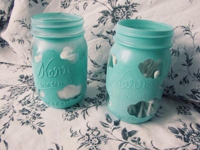 Diy: Cute Cloud Mason Jar