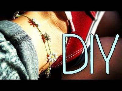DIY Daisy Bracelet.Anklet