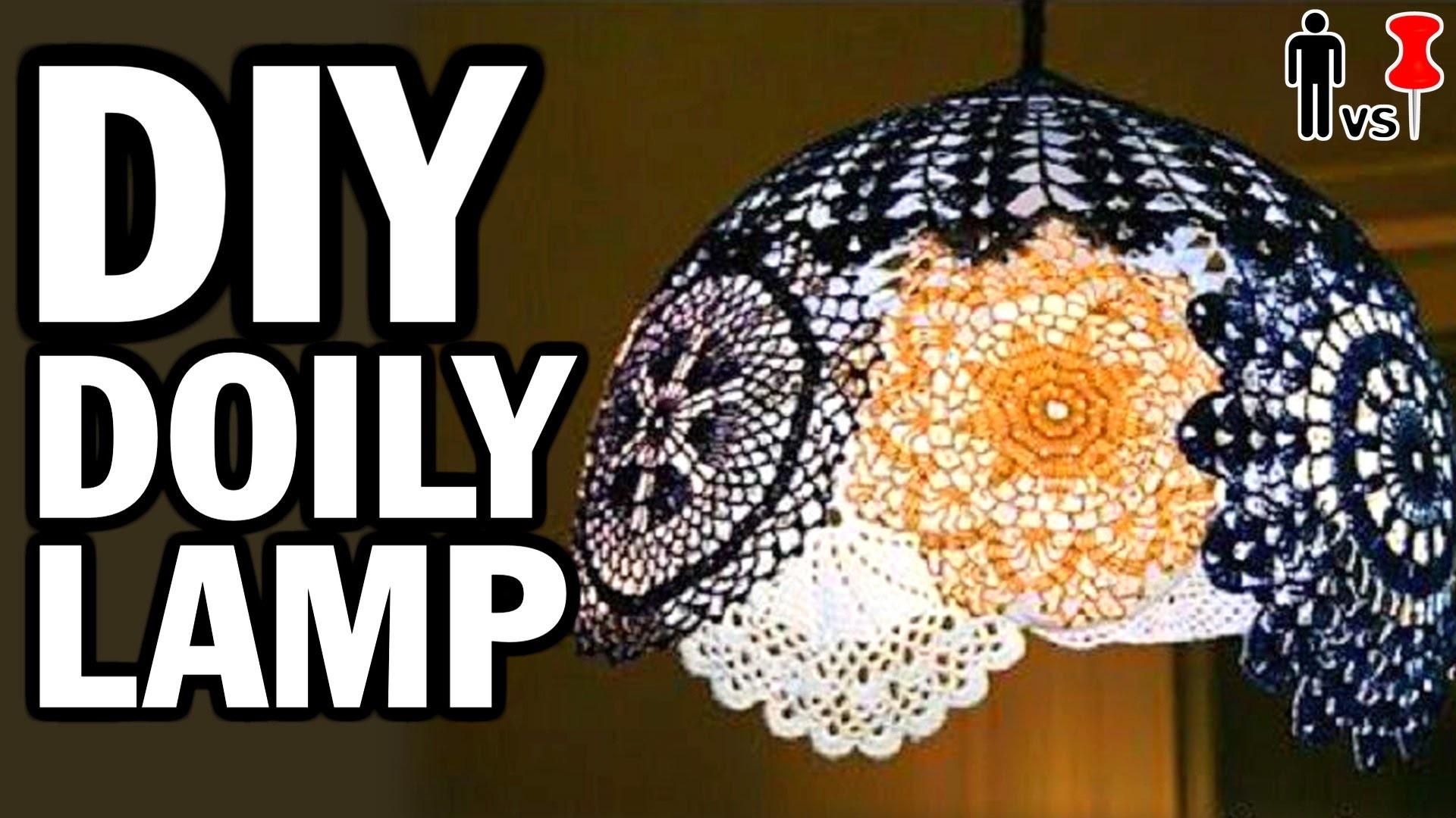 DIY Doily Lamp - Man Vs. Pin - Pinterest Test #44
