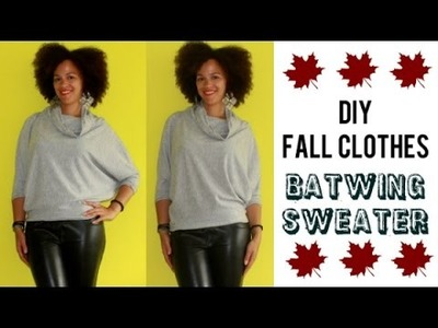 DIY Fall Clothes | How To Make a Batwing Sweater