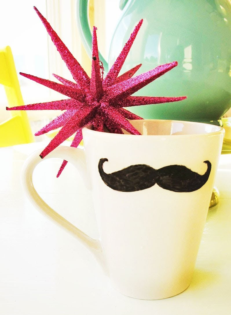 DIY Gift Idea - Mustache Mug | Kandee Johnson