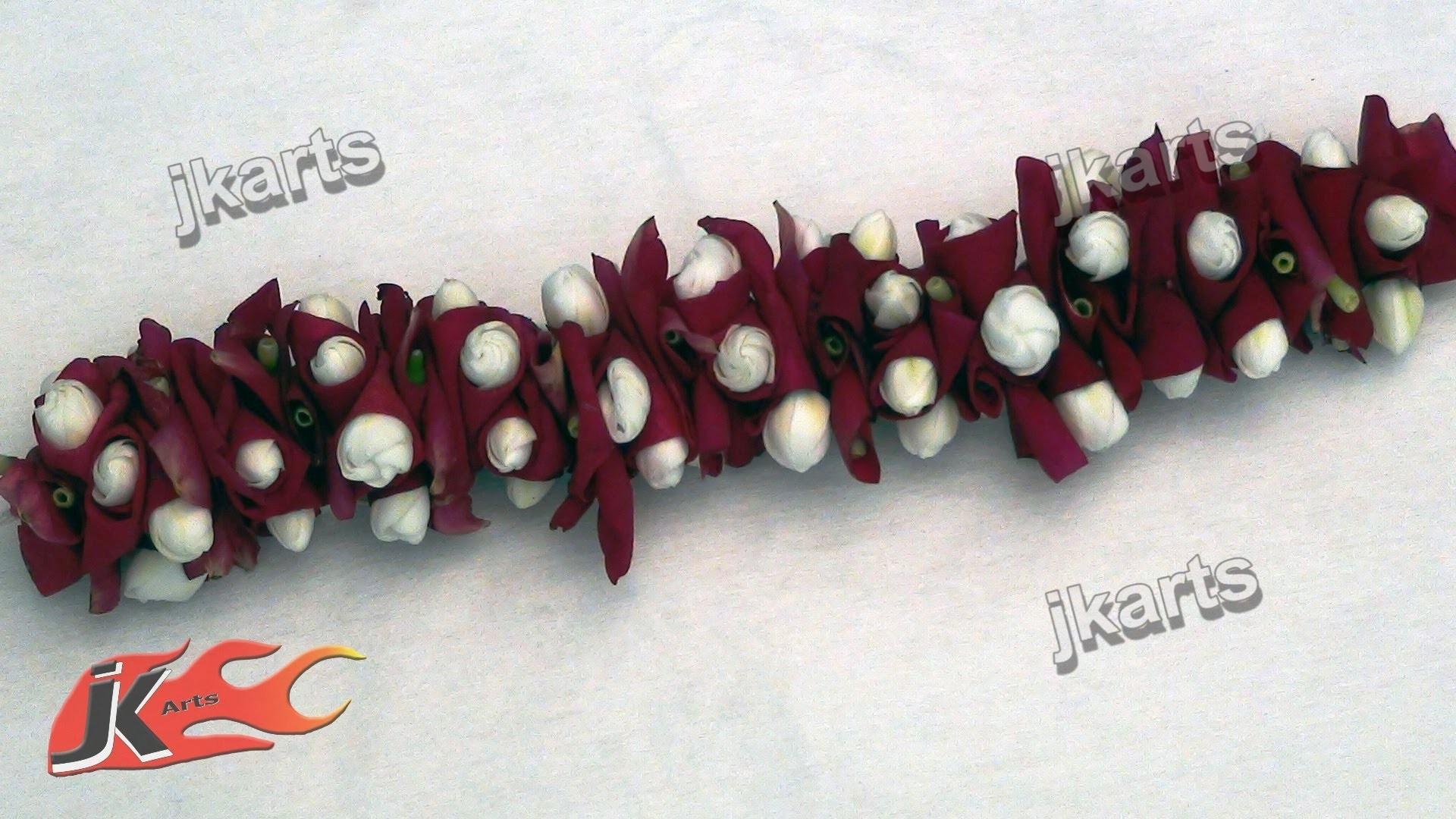 DIY  How to make Gajra. Veni (Traditional Indian Garland) 4 - JK Arts  176