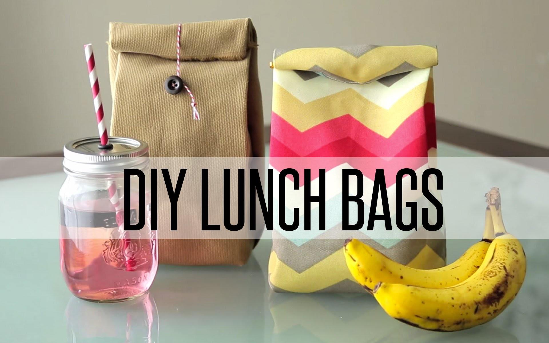 DIY REUSABLE LUNCH BAG. PAPER BAG