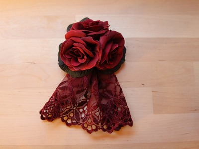 DIY: rose hair accessory (brooch) very easy TUTORIAL