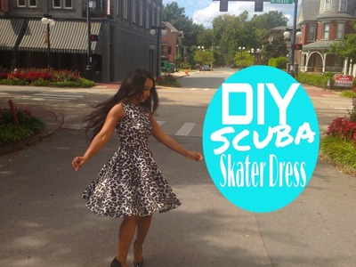 DIY: Scuba.Neoprene Skater Dress