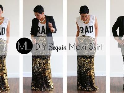 DIY Sequin Maxi Skirt Tutorial! w. Mimi G