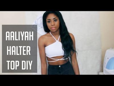 ✂ DIY Tie Up Halter Top [Aaliyah Inspired] ✂