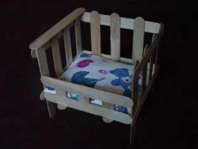 Easy Arts and Crafts: Popsicle Crib