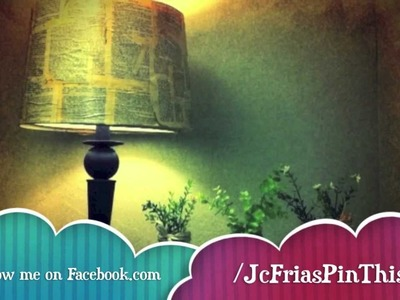 Easy How to DIY Decoupage Lamp Shade Mod Podge Make it Shabby Chic Farmhouse decor!