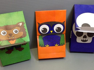 Halloween Origami Bags - Werewolf, Owl, Skull