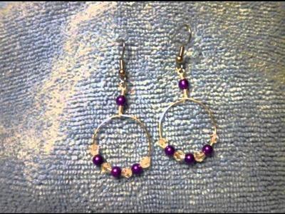 Handmade wire wrapped hoop earrings