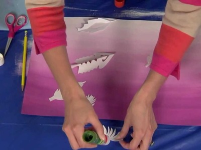 Hands On Crafts for Kids - Paper Feathers