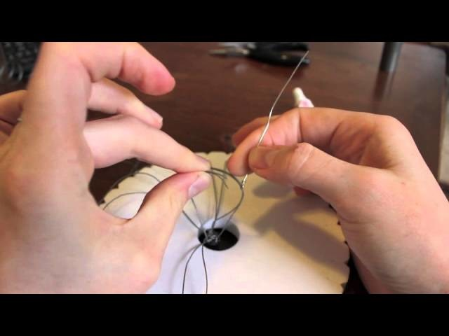 How to attach a bead cap and clasp to 8 strand Kumihimo braid