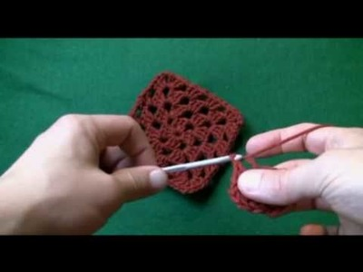 How to Crochet a Left Handed Granny Square (LH Granny Square)