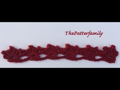 How to Crochet the Edge. Border. Trim Stitch Pattern #29  │ by ThePatterfamily