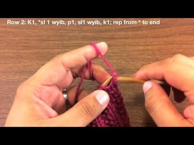 How to Knit the Fluted Fabric Stitch (Continental Style)