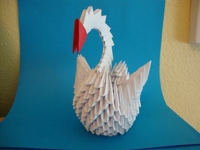 How to make a 3d origami swan