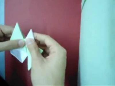 How to make a Origami Star (Shuriken) [Ninja Star]