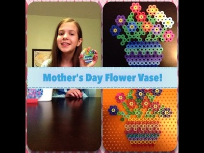 How To Make A Perler Bead Flower Vase! ~ Mother's Day Special!