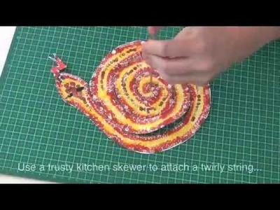 How to make a twirly rainbow serpent craft