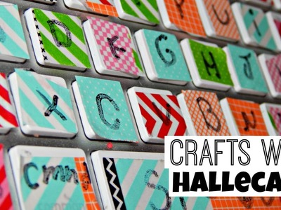 How To Make a Washi Tape Keyboard {Crafts With Hallecake}